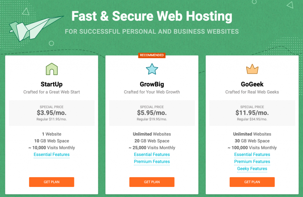 7 Best Web Hosting Companies for Small Business in 2019 3