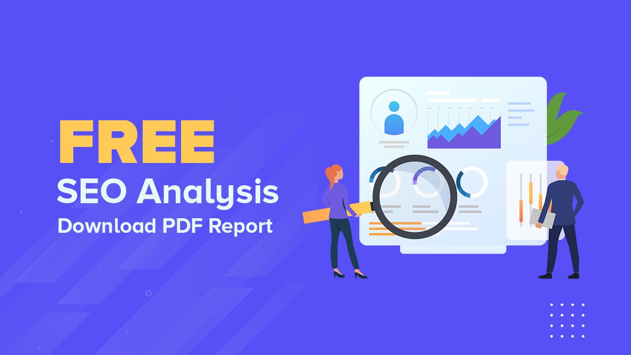 FREE SEO Analysis - PDF Report 1