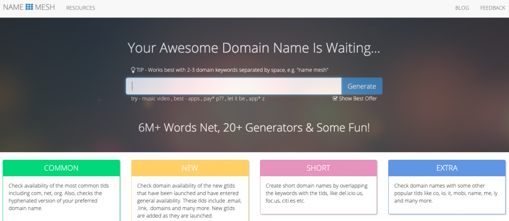 20 Domain Name Generators to Get Awesome Ideas 18