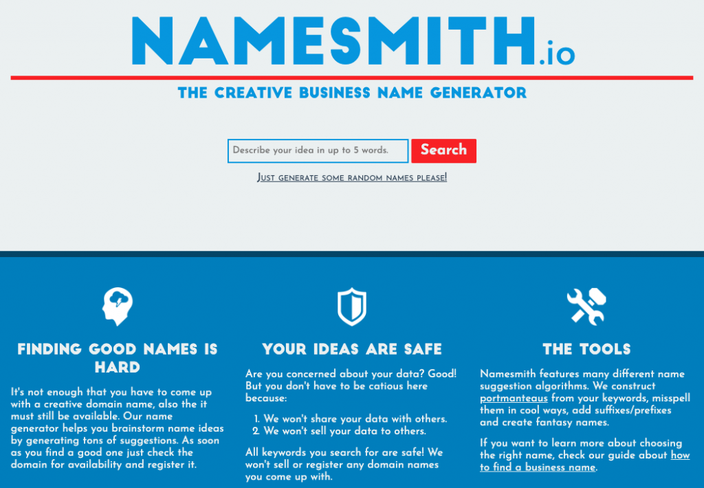 20 Domain Name Generators to Get Awesome Ideas 9