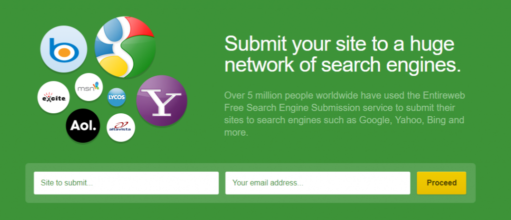 50+ Search Engine Submission Sites to Create Backlinks in 2019 3